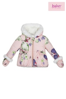 2b5da1eb4 baker by Ted Baker All Over Print Coat And Mittens
