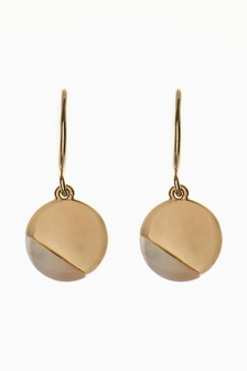Mother Of Pearl Detail Drop Earrings