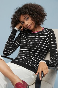 Textured Bobble Jumper