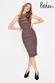 Boden Brown Seam Detail Martha Dress