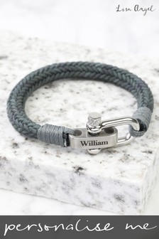 Personalised Adjustable Rope Bracelet by Lisa Angel