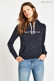 Jack Wills JW Navy Hunston Graphic Hoody