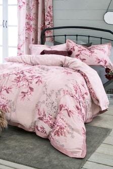 Set mit Bettbezug und Kissenbezug mit Blumenmuster