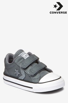 Converse Infant Star Player grijze sneakers met klittenband