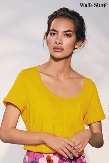 White Stuff Yellow Hannah Fairtrade Jersey Tee