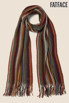 FatFace Yellow Multi Stripe Scarf