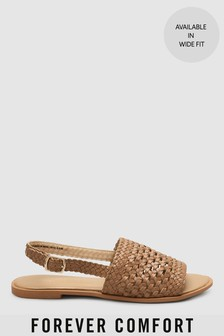 Weave Slingback Sandals
