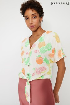 Warehouse Natural Fruit Salad Tie Front Top