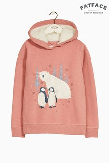FatFace Pink Penguin Graphic Popover Top