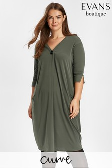 Evans Green Cocoon Pocket Dress