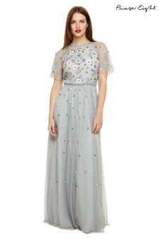Phase Eight Sky Blue Celestra Floral Embelished Dress