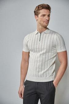 Zip Front Poloshirt