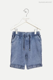 Angel & Rocket Blue Jersey Denim Shorts