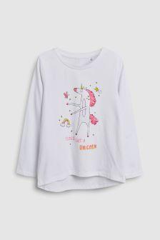 Long Sleeve Flossing Unicorn T-Shirt (3-12yrs)