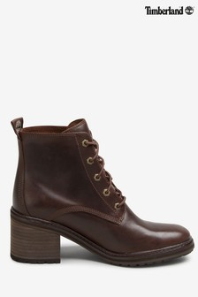 Timberland® Dark Brown Sienna Block Heel Boots