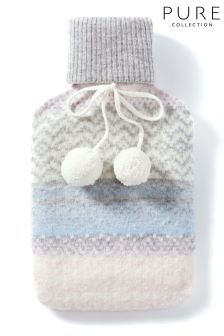 Pure Collection Multi Toccato Hot Water Bottle & Cover