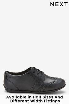 plain black brogues