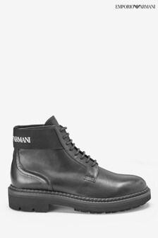 Emporio Armani Black Leather Boots
