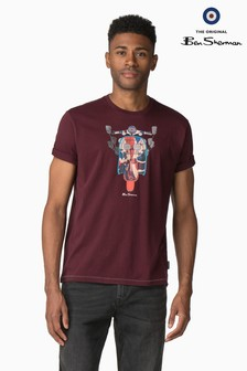 Ben Sherman Red Scooter Flag T-Shirt