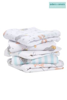 aden + anais Essentials Muslin Squares 5 Pack- Dumbo New Heights