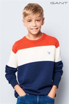 GANT Teen Navy Colourblock Knit Jumper
