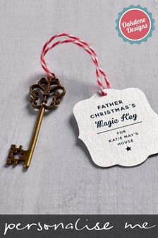 Personalised Magic Father Christmas Key by Oakdene Designs