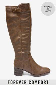 Forever Comfort® Long Block Heel Boots