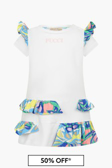 Emilio Pucci Baby Girls White Dress
