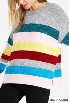 River Island Rainbow Jumper