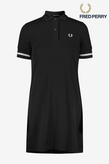 Fred Perry Black Bold Tipped Polo Dress