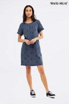 White Stuff Blue Bea Linen Dress