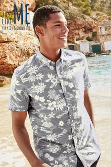3b356a9deb1 Hawaiian Leaf Short Sleeve Shirt