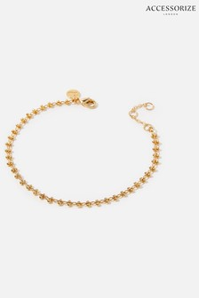Accessorize Gold-Plated Bobble Chain Bracelet
