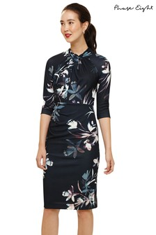 Phase Eight Black Multi Indria Floral Dress