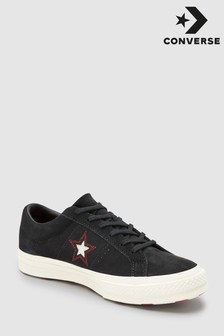 Converse Black Stitch One Star Trainer