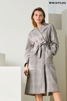 Whistles Check Trench Coat