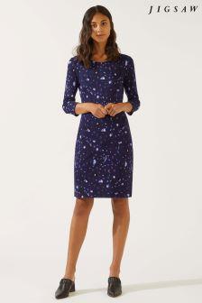 Jigsaw Blue Harvest Print Dress
