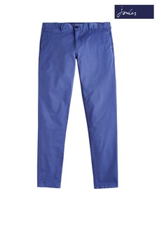 Joules Blue Laundered Slim Fit Chino