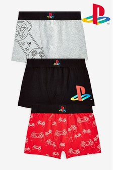 3 Pack PlayStation™ Trunks (3-16yrs)