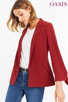 Oasis Red Tie Detail Blazer