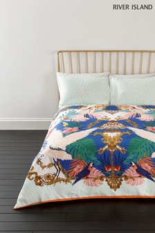 River Island Heron Print Duvet Cover and Pillowcase Set