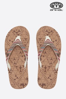Animal Brown Traveller Flip Flop