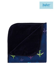 baker by Ted Baker Navy Airplane Blanket