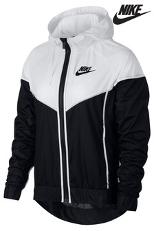 Nike Black/White Woven Jacket