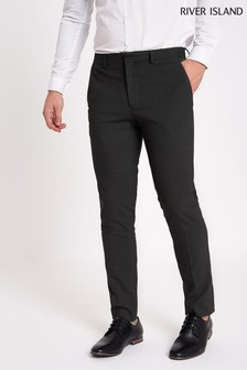 River Island Smart Grey Skinny Stretch Trouser