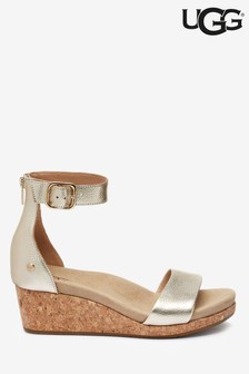 UGG® Zoe Gold Low Wedge Sandal