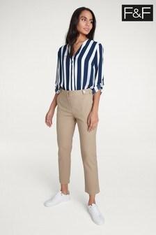 F&F Neutral Slim Leg Trouser