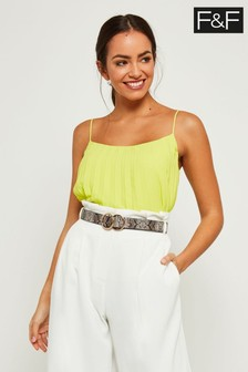 F&F Lime Pleated Cami