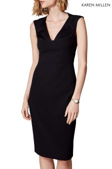 Karen Millen Black Contour Bustier Dress