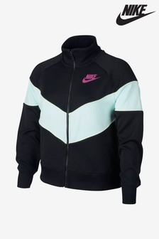 Nike Black/Teal Heritage Full Zip Jacket